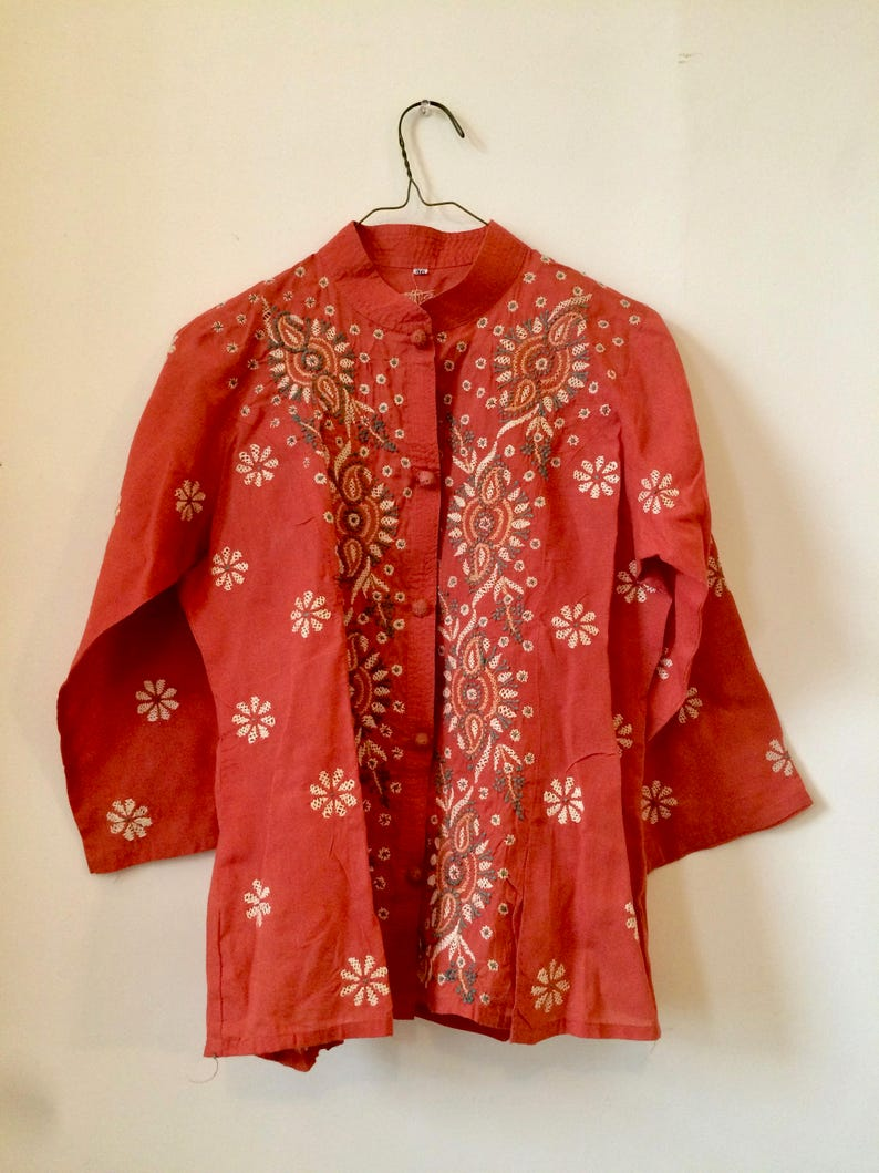 Vintage Hand Embroidered Indian Blouse