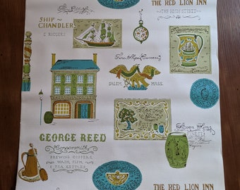 RARE Vintage Historical Salem, MA themed Wallpaper: Sealed Double Rolls- New Old Stock, Sold separately