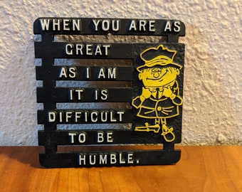 Funny Vintage Trivet - Hilarious Father's Day Gift!