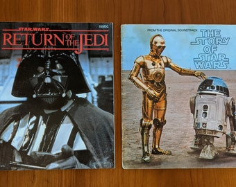 TWO Vintage Star Wars Books - Return of the Jedi (1983) and The Story of Star Wars (1977)