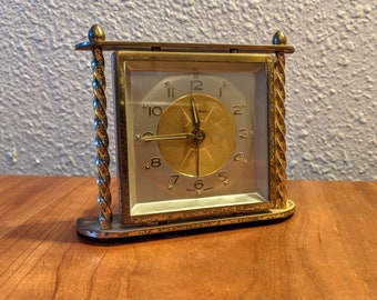 Mid-Century Luminous Alarm Clock Made in West Germany by Waltham