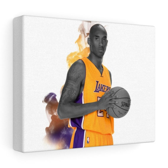 Kobe Bryant Los Angeles Lakers Stretched Canvas | Etsy