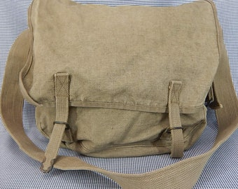 French Military Vintage Army Bag   Messenger   Unisex   Canvas Bags. All  heavy duty canvas aea68e1484b4e