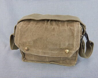 French Military Vintage Army Bag   Messenger   Unisex   Canvas Bags. All  heavy duty canvas small c9ab98105f11a