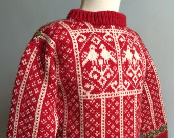 Vintage Scandinavian Handknit Child's Sweater