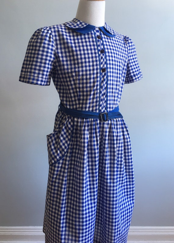 Vintage 50's Gingham Shirtwaist Girl's Dress