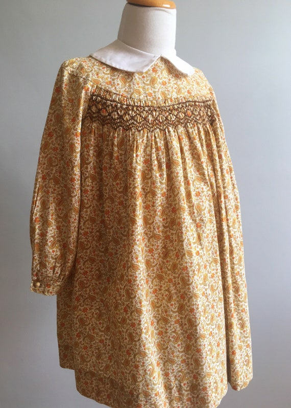 Vintage Polly Flinders Hand Smocked Dress