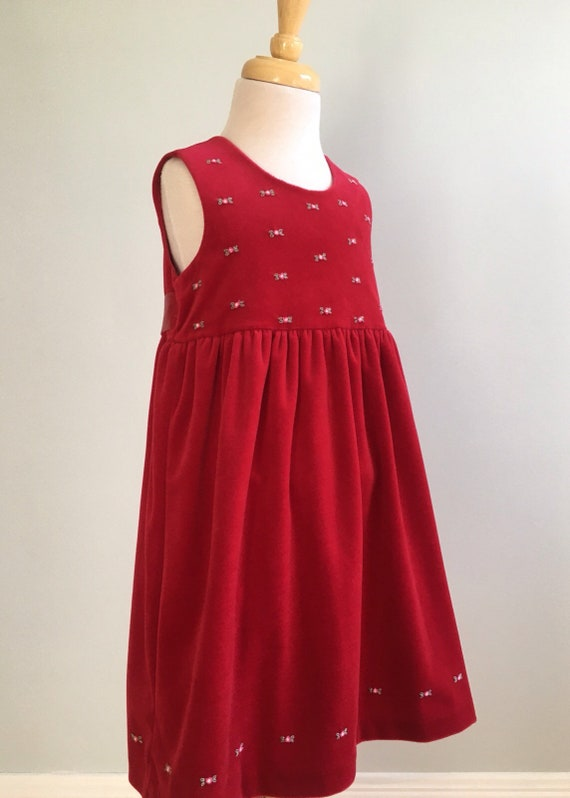 Vintage Laura Ashley Mother and Child Red Velour D