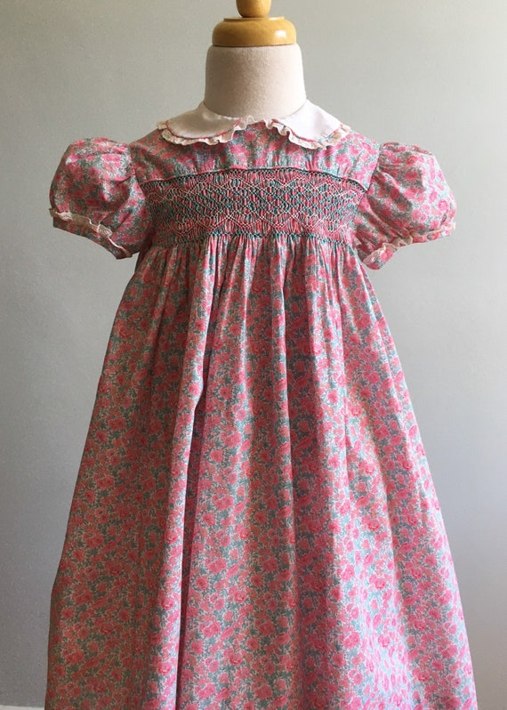 Girl's Vintage Hand Smocked Dress