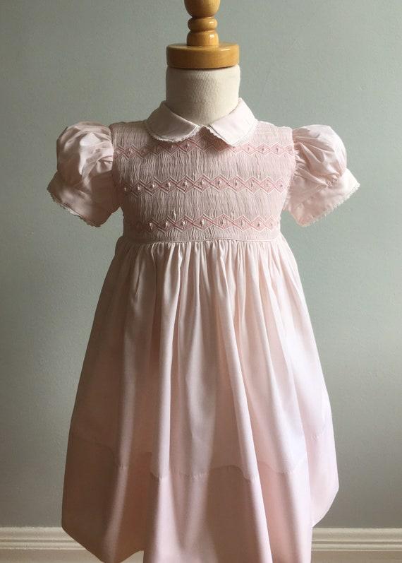 Vintage Classic Feltman Smocked Dress