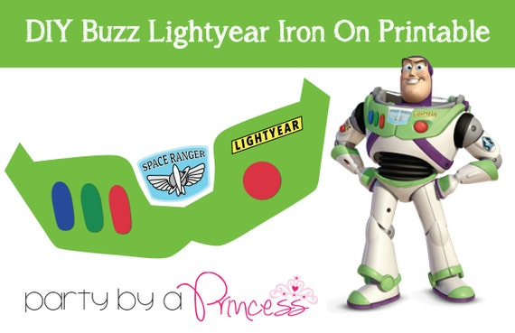 buzz lightyear diy iron on t shirt printable etsy