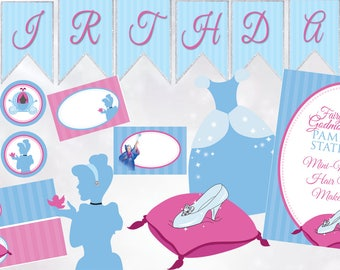 Cinderella Inspired Princess Birthday Party Printables