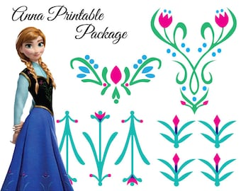 Frozen Anna Design DIY Iron On Printable