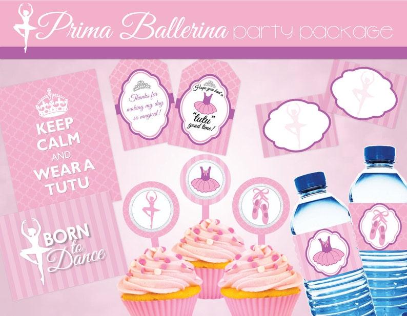 Ballerina Birthday Party Printables image 0