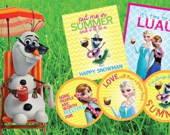 Frozen Summer Luau Party Printables