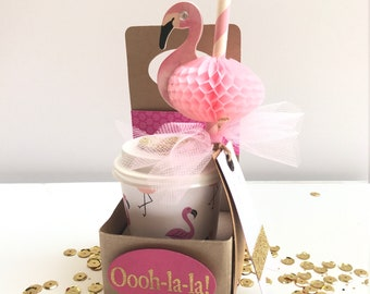 Coffee Gift Card Holder - Flamingo Gift Box - Flamingo Gift for Child - Coffee Gift Card Holder - Coffee Gifts for Her - Gift for Mom