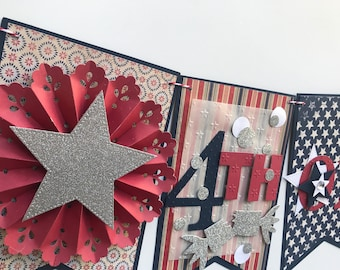 4th of July Banner, Patriotic Banner, July 4th Banner, 4th of July Decor, Patriotic Garland, 4th of July Party, 4th of July Decoration,