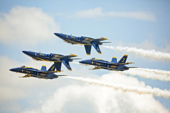 Blue Angel Inversion (Photography)