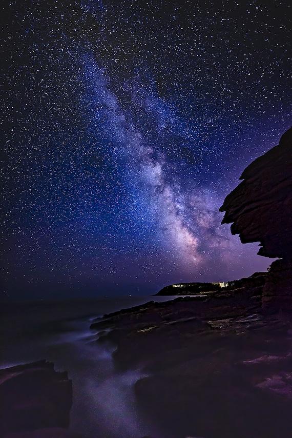 Milky Way Thunder Hole Acadia