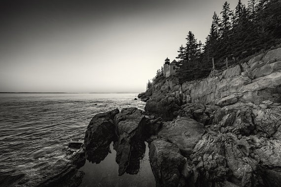 Bass Harbor Sunset BW