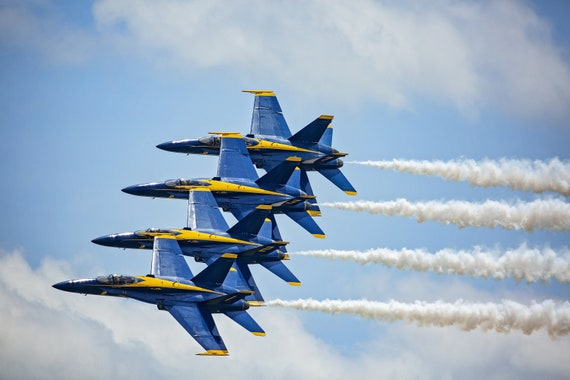 Blue Angels In a Row (Photography)