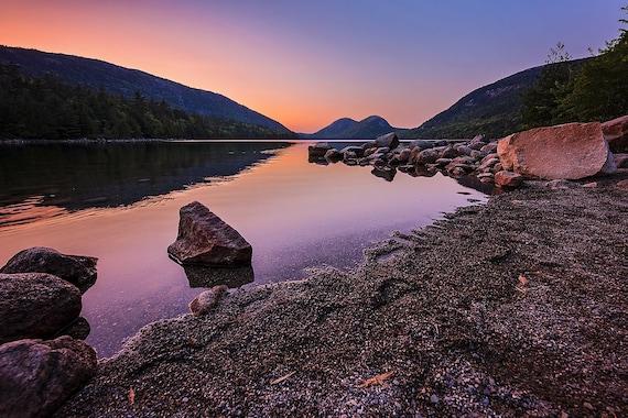 Jordan Pond Sunset