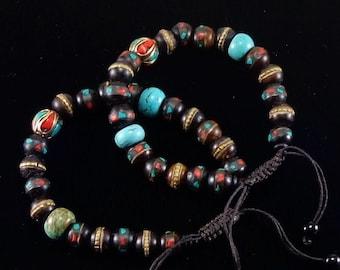 Tibetan Healing Bracelet/ handcrafted/ traditional/ Tibet/ Nepal/ Buddist/ bracelet/ yoga/ mala/ Spiritual Jewelry