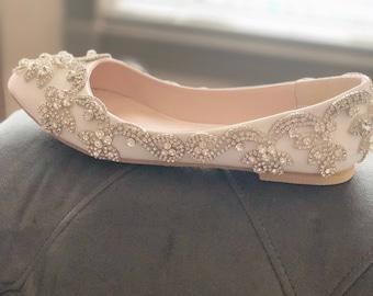 ef3efd2afde71d Wedding bridal shoes-crystal shoes-bridal shoes-flats-pumps