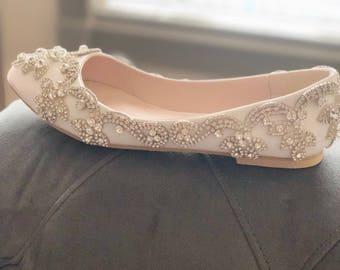 886047f78e6b Wedding bridal shoes-crystal shoes-bridal shoes-flats-pumps