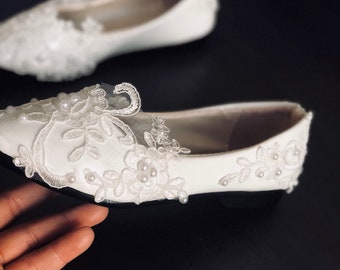 bed0c4d665f0 More colors. Young girls custom bridal shoes- matchy with ...