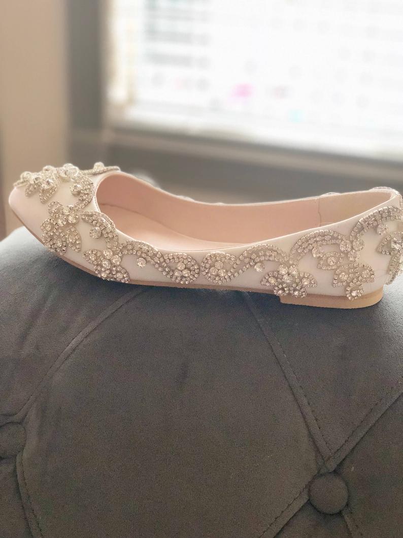 5b13d9830b9 Wedding bridal shoes-crystal shoes-bridal shoes-flats-pumps