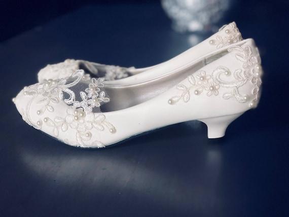 Lace low heel bridal shoes Wedding Shoes Bridal Shoes