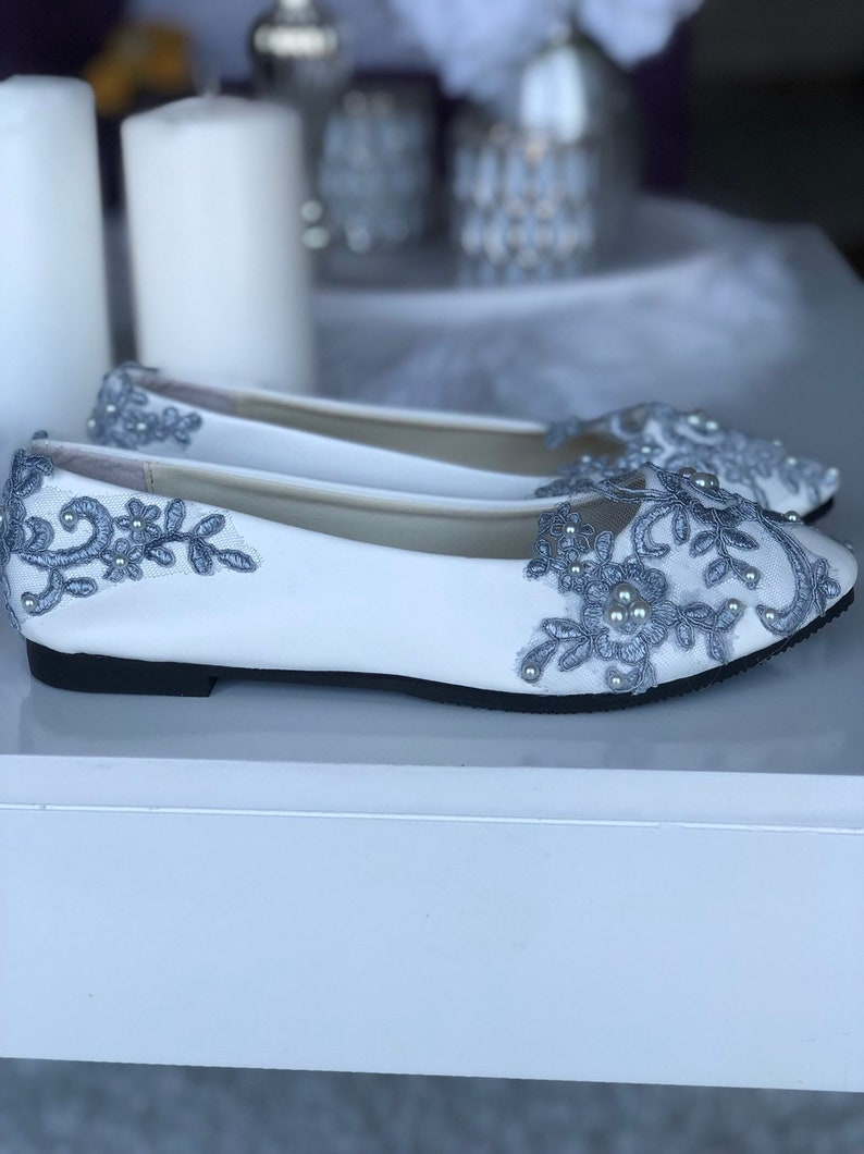 Bridal Shoes Flats Flat Shoes Wedding Shoes White Shoes Etsy