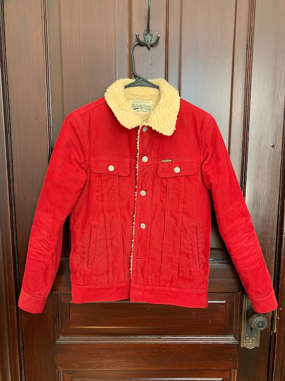 Vintage red corduroy Guilty Parties jacket XS/S