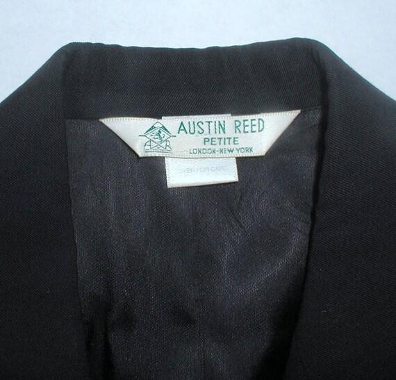 Vintage Austin Reed Petite Wool Blazer Navy Blue Preppy Etsy