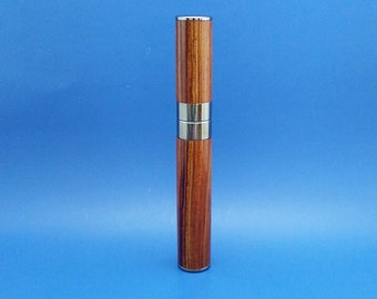 Handcrafted wood cigar tube, cigar holder, Cocobolo