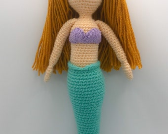 Crochet Amigurumi Mermaid Doll, Toy, Gift