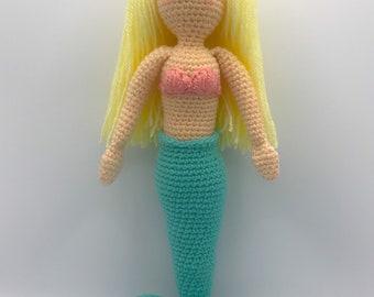 Crochet Amigurumi Mermaid Doll, Gift, Toy