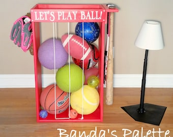Personalized Sports Ball Storage, Unique Storage, Baseball Football Tennis  Soccer Ball Storage, Christmas
