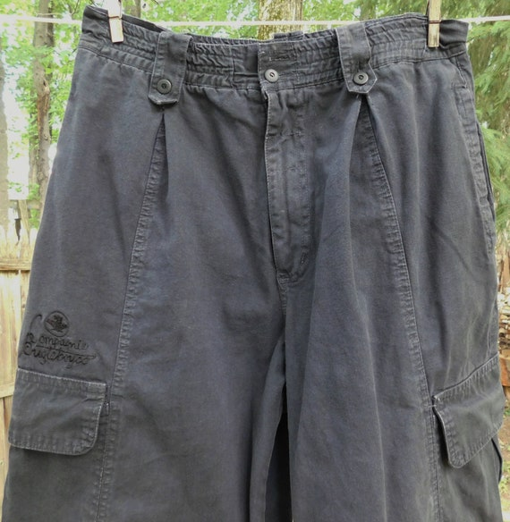 80s men's Bugle Boy pants, black pleated pants, el