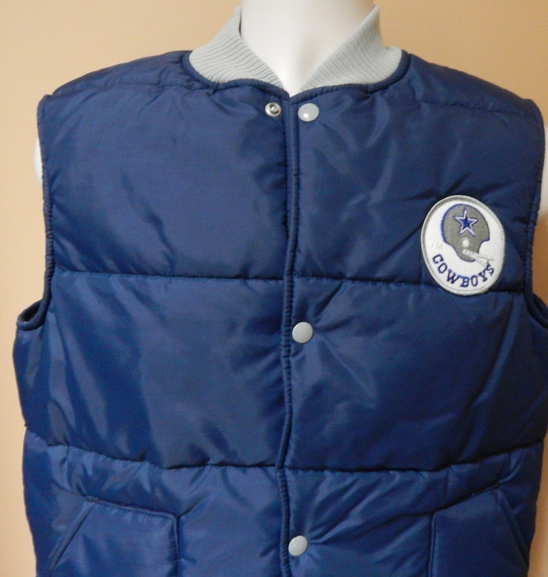 new style e7bd0 02bd1 NFL Dallas Cowboys, 80s puffer vest jacket, youth size