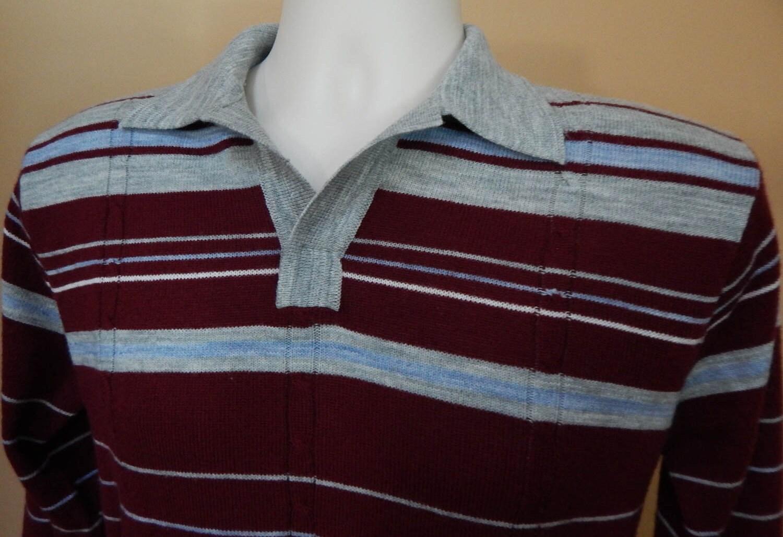 1950s Mens Hats | 50s Vintage Men's Hats Mr. Mann Vintage 1970s Mens Acrylic Striped Sweater, Retro 50s Style Sweater $0.00 AT vintagedancer.com