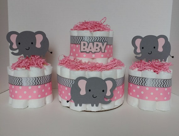 Amazing Gray And Pink Elephant Centerpiece Elephant Baby Shower Safari Funny Birthday Cards Online Chimdamsfinfo