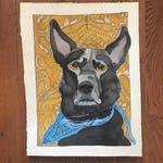 Custom Pet Portait (ONE PET) 8x10 Watercolor, Single Pet, Memorial, Personalized Portrait, Dog, Cat, Rabbit