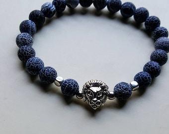 Jungle King Lion Men Women Black Bracelet Casual Fashion Accessories