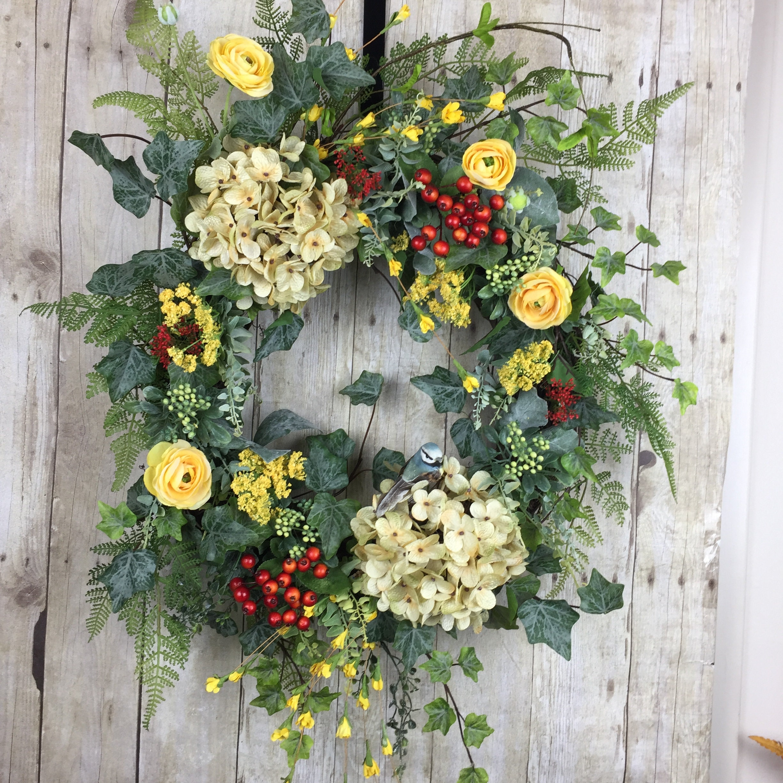 Spring Wreath Summer Wreaths Large, Outdoor Spring Wreaths For Front Door