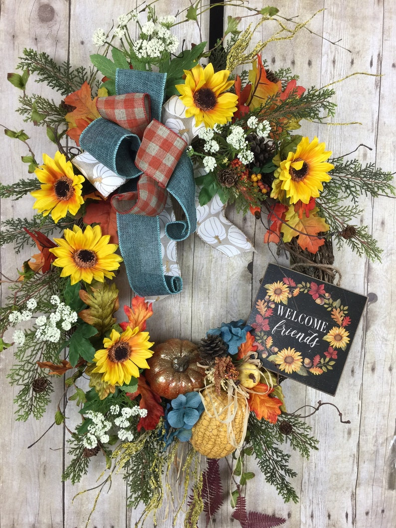 Fall Wreaths Fall Wreaths For Front Door Large Wreath Etsy