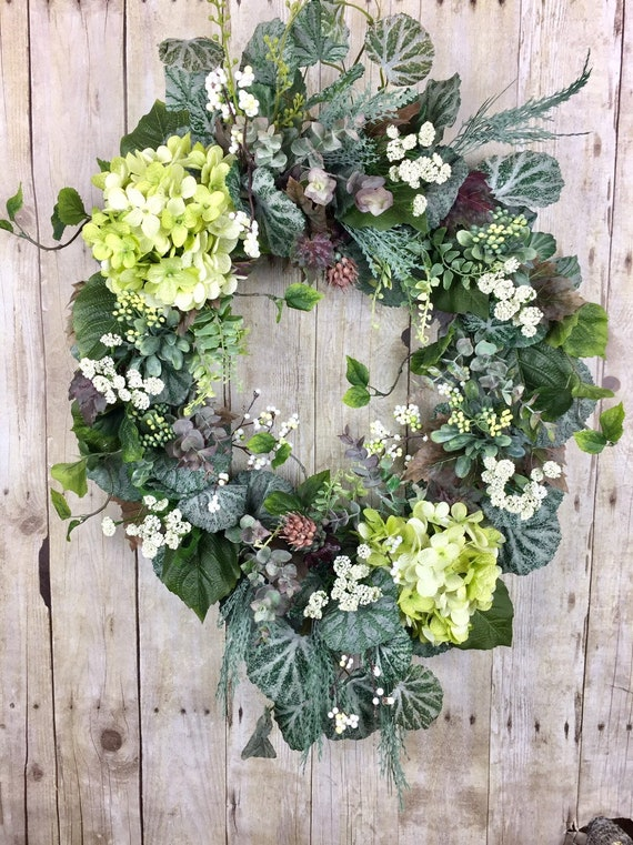 Mothers Day gift Spring wreaths for front door Large Spring wreath monogram Summer wreaths for front door Double door Spring wreath