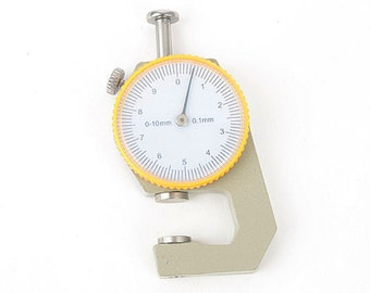 Dial Thickness Gauge, Leather 0 to 10mm Dial Thickness Gauge 0.1mm Precision, Leather craft tools MLT-1080