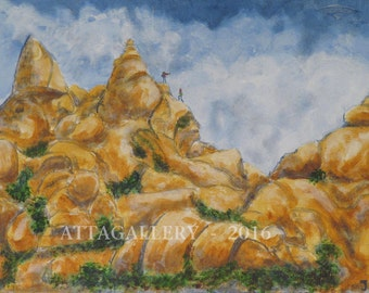 Wonderland of Rocks with UFOs #1 Signed Print